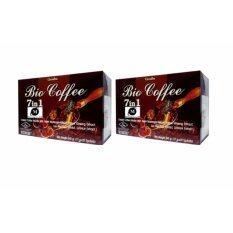Giffarine Bio Coffee 7 In 1 กาแฟเห็ดหลินจือสกัด โสมสกัด หล่อฮังก้วยสกัด เข้มข้น บำรุงร่างกาย เสริมสร้างระบบภูมิคุ้มกัน 20 ซอง 2 กล่อง ถูก