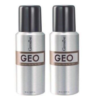 GIFFARINE GEOน้ำหอม สเปรย์ระงับกลิ่นกาย จีโอ สำหรับสุภาพบุรุษ ช่วยลดปริมาณเหงื่อเพื่อใต้วงแขนที่แห้งสบาย ปกป้องให้สะอาด แห้งสบาย ขนาด60มล.(2 ชิ้น)