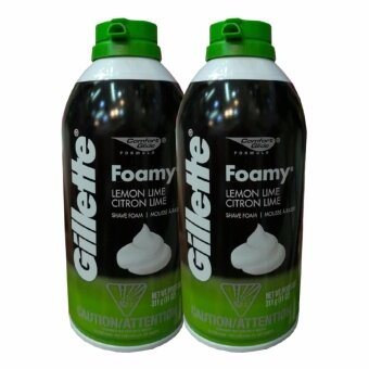 Gillette Foamy Lemon Lime Shave Foam 311g (2 ขวด)
