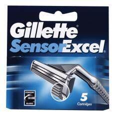 ใบมีดโกนหนวด Gillette Sensor Excel 5 ชิ้น เป็นต้นฉบับ