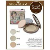 Gina Glam Powder 02 แป้งอัดแข็งผสมรองพื้น เน้นปกปิด ช่วยให้หน้าสว่างเรียบเนียน คุมมัน 1 ตลับ ใหม่ล่าสุด