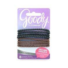 ซื้อ Goody ยางรัดผม Womens Colour Collection Sparkly Metallic Elastic Sph Black 8 ชิ้น ถูก