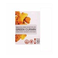 ขาย Green Curmin กรีน เคอมิน ผลิตภัณฑ์สมุนไพรเสริมอาหาร บรรเทาอาการกรดไหลย้อน และโรคกระเพาะ 30 แคปซูล ออนไลน์ กรุงเทพมหานคร