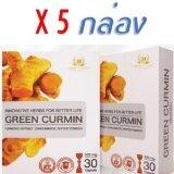 ซื้อ Green Curminกรีนเคอมิน บรรเทาอาการกรดไหลย้อน โรคกระเพาะอาหาร อักเสบเรื้อรัง บรรจุ5กล่อง