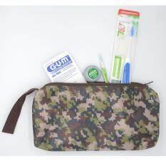 ราคา Gum ชุดแปรงจัดฟัน ไหมขัดฟัน ห่วงร้อยไหมขัดฟัน แปรงซอกฟัน พร้อมกระเป๋า ถูก