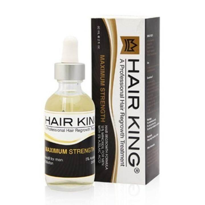 Hair King ยาปลูกผม ไมน้อก 15% สำหรับผู้ชายที่ผมร่วงมาก 1 ขวด (ใช้ได้ 1 เดือน)