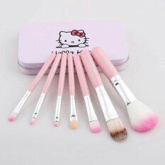 ขาย T Hello Kitty Brush Kit ชุดแปรงแต่งหน้าคิตตี้ 7 ชิ้น พร้อมกล่อง สีชมพู Unbranded Generic ใน กรุงเทพมหานคร