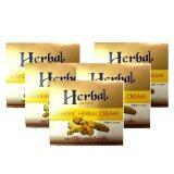 ส่วนลด สินค้า Herbal ครีมสมุนไพร Herb ขมิ้นเกรด A แพคเกจใหม่ ภายใต้ชื่อ Herbal 5 กรัม 5 กล่อง