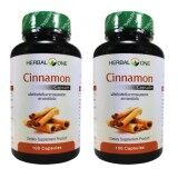 ราคา Herbal One อบเชย อ้วยอัน Cinnamon 100 Capsule X 2 Bottle เป็นต้นฉบับ Herbal One
