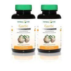 ราคา Herbal One Garlic 100 Capsulesx 2 Bottles การ์ลิค กระเทียมสกัดชนิดแคปซูล Herbal One ออนไลน์