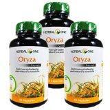 ราคา Herbal One Oryza 60 Capsules เฮอร์บัลวัน โอไรซา น้ำมันรำข้าวและจมูกข้าว 60 แคปซูล X 3 ขวด ถูก