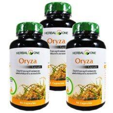 ขาย Herbal One Oryza 60 Capsules เฮอร์บัลวัน โอไรซา น้ำมันรำข้าวและจมูกข้าว 60 แคปซูล X 3 ขวด Herbal One ผู้ค้าส่ง