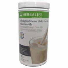 ขาย Herbalife เฮอร์บาไลฟ์ เชค นิวทริชันแนล โปรตีนเชค มิกซ์ ผลิตภัณฑ์เสริมอาหาร โปรตีนสกัดจากถั่วเหลือง กลิ่นคุ๊กกี้แอนด์ครีม 550G 1 กระปุก ใน ไทย