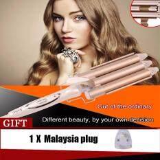 ซื้อ High Quality Professional Hair Curling Iron Ceramic Triple Barrel Hair Curler Hair Waver Styling Tools Hair Styler ออนไลน์