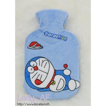 Hot water bag กระเป๋าน้ำร้อน ขนาดเล็ก ลาย Doraemon 305 โดราเอมอน ขนาด 21x13.5 cm.สีฟ้า