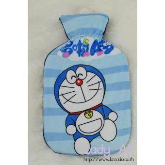 Hot water bag กระเป๋าน้ำร้อน ลาย Doraemon 001 โดราเอมอน ขนาด 26x16 cm.สีฟ้า