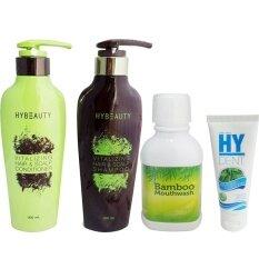 ทบทวน Hybeauty Vitalizing Hair Scalp Conditionerแชมพู และ ครีมนวดผม300 Ml Bamboo Mouthwash น้ำยาบ้วนปาก Hylife Dent ยาสีฟันไฮเด็นท์