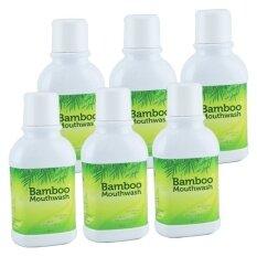 ราคา Hylife Bamboo Mouthwash น้ำยาบ้วนปาก แบมบู 300 Ml 6 ขวด ที่สุด