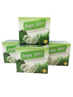 JingaJuice เครื่องดื่มทุเรียนเทศผสมต้นอ่อนข้าวสาลี4 กล่อง/48 ซอง เลขที่ อย 10-3-07057-1-00001