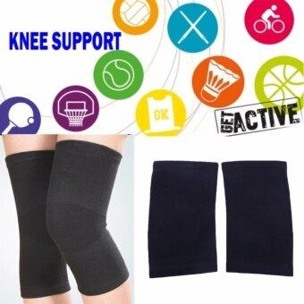 JJ อุปกรณ์ป้องกัน ปลอกขา ที่กระชับกล้ามเนื้อ ที่รัดขา ที่รัดเข่า ปั่นจักรยาน ฟิตเนส ออกกำลังกาย Knee Support (สีดำ)size:L