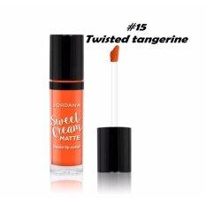 ขาย Jordana Sweet Cream Matte Lipstick 15 Twisted Tangerine ลิปเนื้อแมท Jordana ถูก