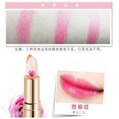ขาย ซื้อ Kailijuemei Flower Jelly Lip ลิปเจลลี่ดอกไม้ รุ่นผสมทองคำ Kailijumei 3 8 G ดอกไม้สีแดงทาแล้วให้สีชมพูระเรื่อ