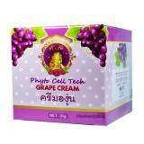 ราคา K K Beautiful Grape Creamครีมองุ่นหน้าใส ลดสิวฝ้า กระ บรรจุ 15G 1กล่อง เป็นต้นฉบับ K K Beautiful