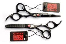 Kasho Cl6440C Hair Cutting Scissors ชุดกรรไกรตัดผมสีดำ ขนาด 6 นิ้ว ฟรี กระเป๋าและหวี 3 ชิ้น เป็นต้นฉบับ