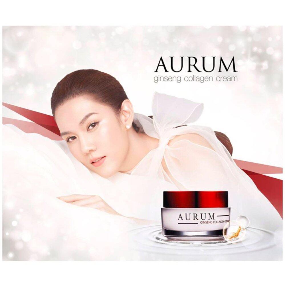 ใช้แล้วดีจริง ๆ ค่ะ ครีม อั้ม พัชราภา Aurum Ginseng Collagen Cream ครีมออรั่ม ครีมบำรุง ครีมโสม ครีมอั้ม 50g. ใช้ได้ผลจริง