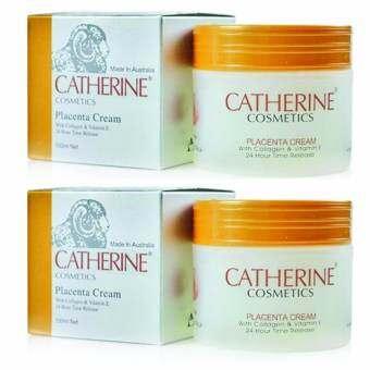 ครีมรกแกะ Catherine Placenta Cream with Collagen & Vitamin E 100 ml. x 2 กระปุก