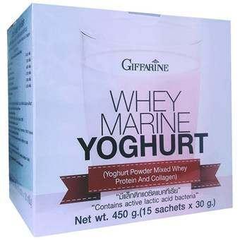 กิฟฟารีน โยเกิร์ตชนิดผง ผสมเวย์โปรตีนและคอลลาเจน อาหารเสริมทดแทน เพื่อลดน้ำหนัก (15ซอง/กล่อง)-