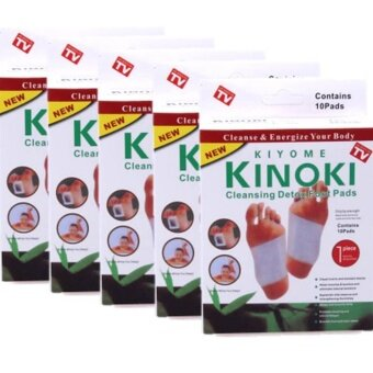 Kinoki Detox Foot Pad แผ่นแปะเท้าดูดสารพิษ แผ่นดูดสารพิษจากเท้า แพค 5 กล่อง