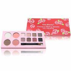 ส่วนลด Kiss Beauty Contouring Blusher Eyeshadow 3 In 1 Palette คอนทัวร์ อายแชโดว์และปัดแก้ม เซ็ตแต่งหน้า ทรี อิน วัน พาเลต กรุงเทพมหานคร