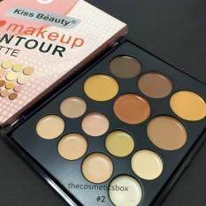 ราคา Kiss Beauty I Love Makeup Contour Palette พาเลทคอนทัวเนื้อครีม 14สี No 2 ใหม่
