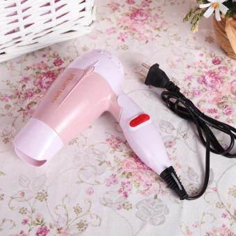 kitty shop hair dryer ไดร์เป่าผม ด้ามจับแบบพับเก็บได้ 1000 W รุ่น K-100 (Pink) 1 เครื่อง