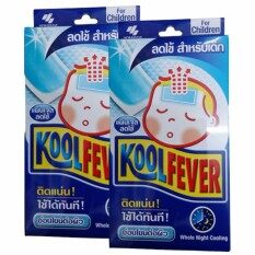 Kool Fever แผ่นเจลลดไข้ สำหรับเด็ก 6 แผ่น/กล่อง (2กล่อง) Koolfever By Smileskyshop.