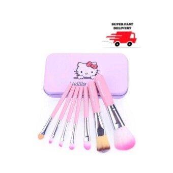 korea แปรงแต่งหน้า Hello Kitty Makeup Brush 7ชิ้น (Pink)ชมพู