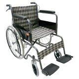 Kt รถเข็นผู้ป่วยคนชรา Wheelchair คนแก่ วีลแชร์ พับได้ Kt907Eb ลายสก๊อตน้ำเงินเหลือง นนทบุรี