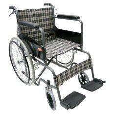 โปรโมชั่น Kt รถเข็นผู้ป่วยคนชรา Wheelchair คนแก่ วีลแชร์ พับได้ Kt907Eb ลายสก๊อตน้ำเงินเหลือง Kt ใหม่ล่าสุด