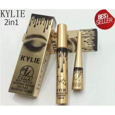 ทบทวน ที่สุด Kylie 2 In 1 Waterproof Mascara Eyeliner สีดำ