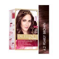 ซื้อ ลอรีอัล ปารีส เอกซ์เซลเลนซ์ ครีม แอดวานซ์ ทริปเปิล แคร์ ครีม คัลเลอร์ ครีมเปลี่ยนสีผม เบอร์ 4 2 สีน้ำตาลประกายม่วง L Oreal Paris Excellence Creme Advanced Triple Care Creme Color 4 2 Pearly Brown ใน สมุทรปราการ