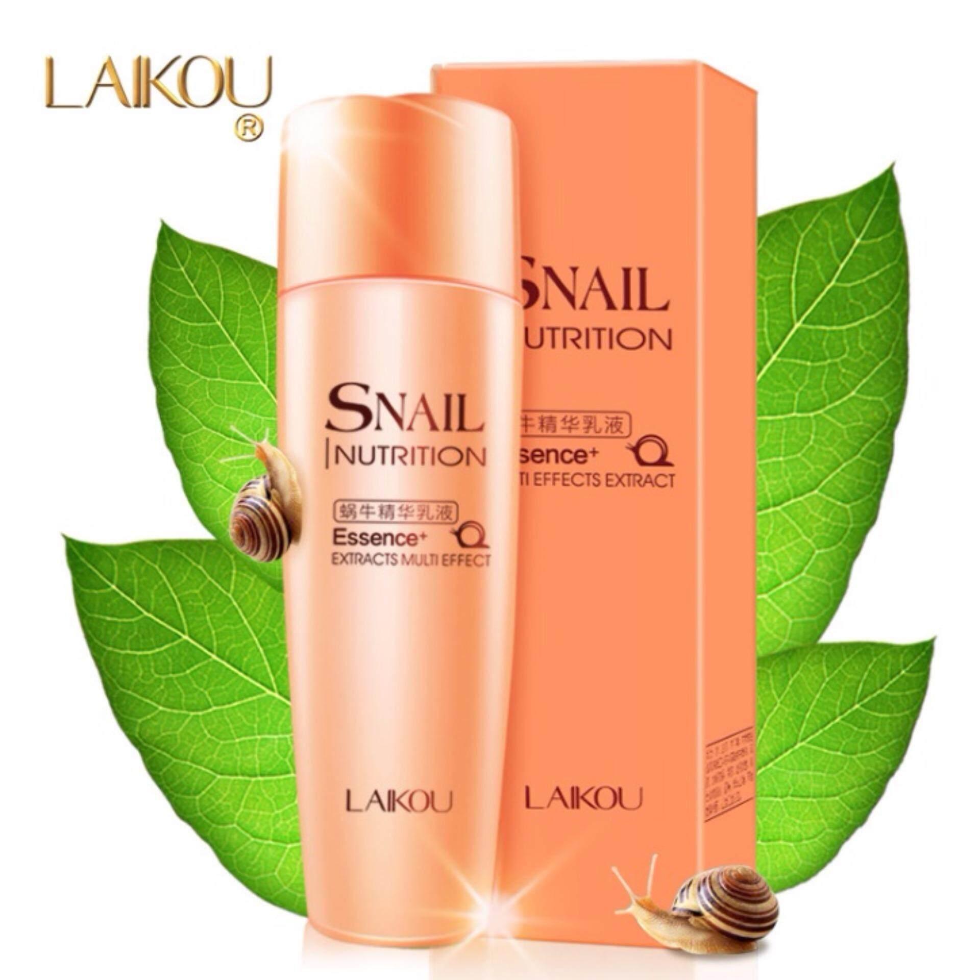 ใช้แล้วดีจริง ๆ ค่ะ LAIKOU SNALL Essence มอยเจอร์ไรเซอร์ เพื่อผิวชุมชื่น ขาวกระจ่างใส 1ชิ้น จากธรรมชาติ 100%