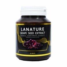 ราคา Lanature Grape Seed Extract สารสกัดจากเมล็ดองุ่น บรรจุ 30 เม็ด 1 กระปุก เป็นต้นฉบับ