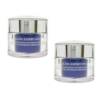 Lancome Blanc Expert Nuit Whitening Night Cream 15ml. x 2 กระปุก (ขนาดทดลอง Travel size)