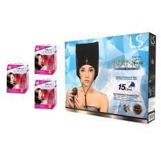 ส่วนลด Lesasha Thermo Cap Lersasha Vitamin Hair Serum X 8 เม็ด ชุดหมวกอบไอน้ำ มาพร้อมเซรุ่มสำหรับบำรุงผมที่แห้งเสีย ไม่มีน้ำหนัก ชี้ฟู ให้เรียบตรงสลวย ใช้งานง่าย ทำเองได้ที่บ้าน Lesasha
