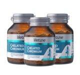 ส่วนลด สินค้า Lifetune Chelated Chromium ไลฟทูน คีเลต โครเมี่ยม 100มก 90เม็ด 3 ขวด