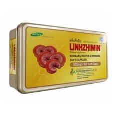 ขาย Linhzhimin หลินจือมิน เห็ดหลินจือแดงสกัด สำหรับบำรุงร่างกายผู้ที่เป็นเบาหวาน ความดัน ภูมิแพ้ บรรจุ 60 เม็ด 1กล่อง Linhzhimin เป็นต้นฉบับ