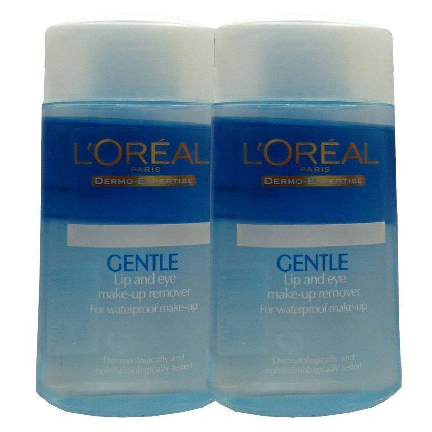 L'oreal Gentle Lip and Eye Remover for Waterproof Make-up โลชั่นทำความสะอาด