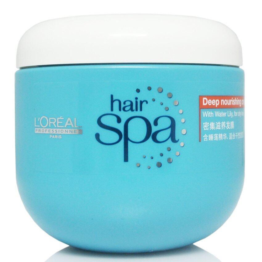 รีวิว Loreal Hair Spa Deep nourishing Creambath 500ml. ลอรีอัล โปรเฟชชั่นเนล แฮร์สปา ดีพนูริชชิ่ง ครีมบาธ ครีมนวดอบไอน้ำ เหมาะสำหรับผมแห้งเสีย และอ่อนแอ