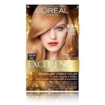 L'Oreal Paris เอ็กซ์เซลเล้นซ์ ครีมเปลี่ยนสี #8.34 - สีบลอนด์อ่อนประกายทอง